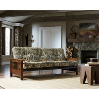 Walmart: Mainstays Realtree Camouflage Wood Arm Futon