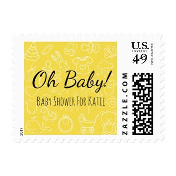 Oh Baby | Baby Shower Postage Stamps