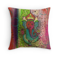 'Swati' Throw Pillow by Sophia Buddenhagen