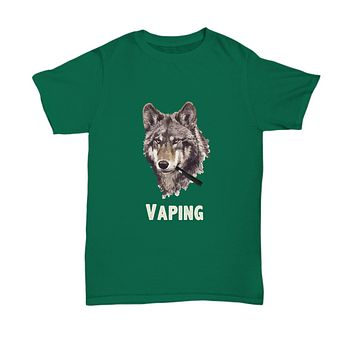 Vaping Smoking Wolf Vape Pen Smoke T-Shirt