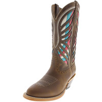 Ariat Womens Gentry Leather Embroidered Cowboy, Western Boots