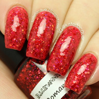 Romantic Red - Red Glitter Handmade Nail Polish