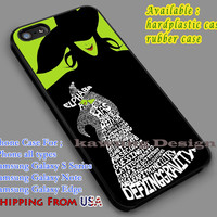 Wicked The Musical Quote iPhone 6s 6 6s+ 5c 5s Cases Samsung Galaxy s5 s6 Edge+ NOTE 5 4 3 #music #wkd dl7