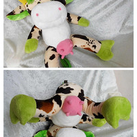 Huge Stuffed Animal COW with UDDER soft Home Decor cow soft funny cow unique cow mother cow farmers decor soft cow decor HANDMADE dairy cow