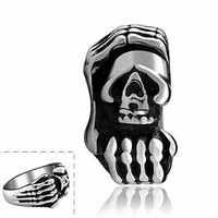 Creative Skeleton Super Cool Personality Man Titanium Steel Ring