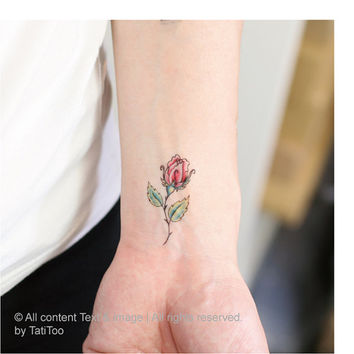 small rose 2 pcs  - Temporary Tattoo T196