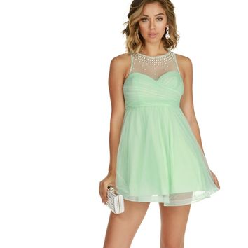 Adeline-mint Homecoming Dress