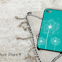 Dandelion Flowers on Tiffany Blue iPhone 4 iPhone 4S Case