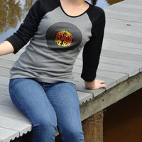 Here Comes The Sun The Beatles Album 3/4 Sleeve Tee~Great for gifts! Packaged in a mason jar adorned with fabric & a bow.