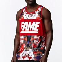 Hall of Fame Gatti Fame Blocked Tank Top - Mens Tee - Red