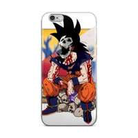 Skull Head Goku Dragon Ball Z iPhone 4 4s 5 5s 5C 6 6s 6 Plus 6s Plus 7 & 7 Plus Case