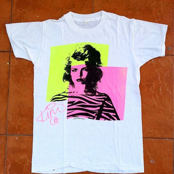 ON SALE Vintage Vtg KIM Wilde New Wave Synthpop Punk Singnature 80's T shirt