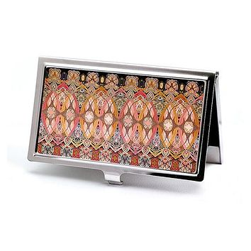 Illuminations Victorian Style Business Card Case in Rose Jewel Tones