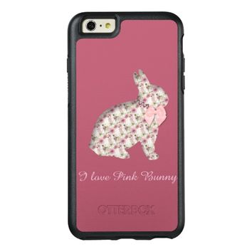 I love Pink Bunny for Easter OtterBox iPhone 6/6s Plus Case
