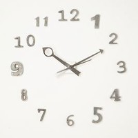 Alloy Numero Clock by Anthropologie in Grey Motif Size: One Size Clocks