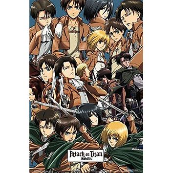 ATTACK on TITAN POSTER Amazing Cast Collage RARE HOT NEW 22x34 Style B