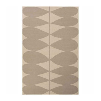 Soft Petals Flat-Weave Rug in Antique Gray