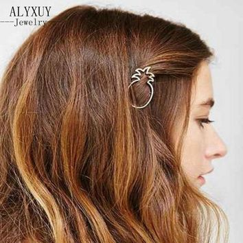 New fashion hairwear gold color fruit pineapple hairpin hair combs hair sticks barrettes gift for women girl H395