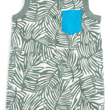 Tea Collection Dicksonia Antarcitca Pocketed Romper (Baby Boys) | Nordstrom