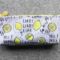 Cute fruit pencil case - lemon
