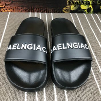 DCCK B003 Balenciaga Fashion Casual Slippers Black
