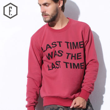 Winter Stylish Alphabet Pullover Round-neck Long Sleeve Men Hoodies [8822220931]