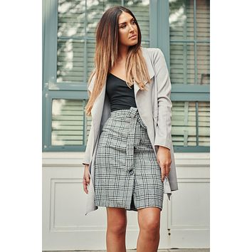 All I Ever Wanted Blazer Coat (Light Grey)