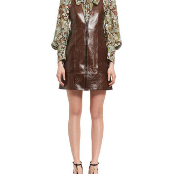 Chloe Butterfly Garden Paisley Viscose Shirt, Brown and Matching Items