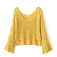 Pullover Sweater Needles Tops Loudspeaker [9101518343]