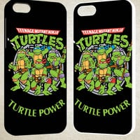 Teenage Mutant Ninja Turtles TMNT Heroes Cartoon F0230 iPhone 4S 5S 5C 6 6Plus, iPod 4 5, LG G2 G3, Sony Z2 Case