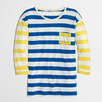 FACTORY MIXED-STRIPE POCKET TEE