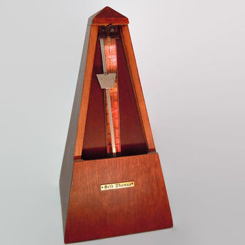 Vintage Seth Thomas Metronome | Working Wood Vintage Metronome | Functional Seth Thomas Collectible Metronome | Great Gift for Musicians