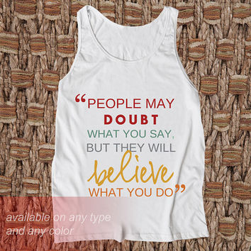 Believe Casual Wear Sporty Cool Tank top Funny Tank Cute Direct to garment