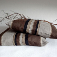 Pillow covers - brown & grey tones - home decor - gift - set of 2