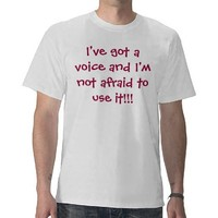 Choirox - Choir Rocks!  I've got a voice... T-shirt from Zazzle.com