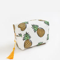Jacie Yellow Pinapple Cosmetic Bag