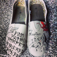 The Hobbit Hand Painted Shoes