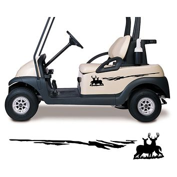 Buck Doe Golf Cart Decals Accessories Side by Side Racing Stickers Graphics GCTT02