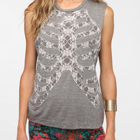 Workshop Lace Ribcage Muscle Tee