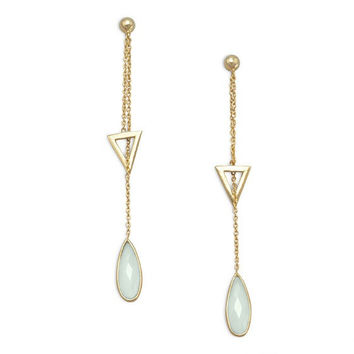 Chalcedony Lariat Earrings