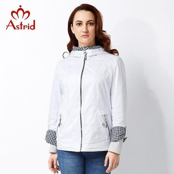 Astrid 2018 High quitly Trench Coat for Women Plus Size Women's Windbreake Spring and Autumn Coat Big Size Coat Female AS-2819