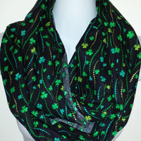 St Pattys Day Scarf Saint Patricks Day Eternity Loop Shamrock Scarf Circle Scarf Celtic Scarf Green Scarf March Scarf Holiday Scarf