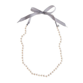 crewcuts Girls Ribbon-Tied Long Pearl Necklace