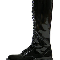BIKER LACEUP HIGH BOOTS