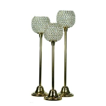 Splendid Majestic Candle Holder, Gold, Set Of 3