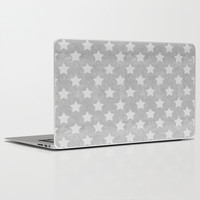 Stars on concrete background Laptop & iPad Skin by cafelab