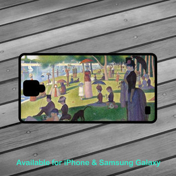 A Sunday Afternoon on the Island of La Grande Jatte phone case Art phone case Iphone case Samsung case Galaxy case