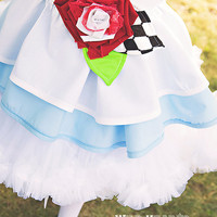 Alice in Wonderland Inspired Dress Up Costume Apron, Half Apron style...Made to Order
