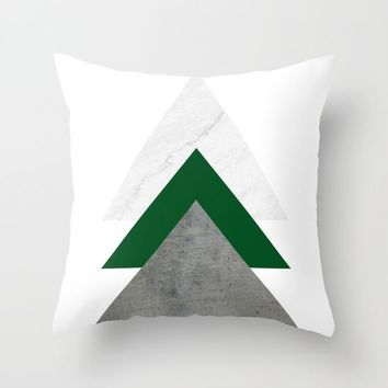 Marble Green Concrete Arrows Collage by ARTbyJWP