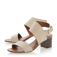 DUNE BLACK LADIES LOTTA - Block Heel Leather Sandal - nude | Dune Shoes Online